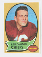 1970 Topps Football 1 Len Dawson Kansas City Chiefs Near-Mint Plus