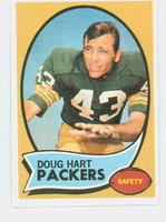 1970 Topps Football 2 Doug Hart Green Bay Packers Near-Mint Plus