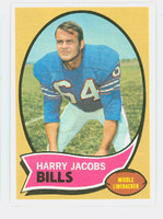 1970 Topps Football 13 Harry Jacobs Buffalo Bills Near-Mint Plus