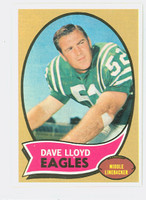 1970 Topps Football 21 Dave Lloyd Philadelphia Eagles Near-Mint Plus