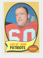 1970 Topps Football 33 Len St. Jean Boston Patriots Near-Mint Plus