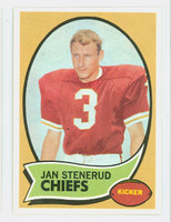 1970 Topps Football 25 Jan Stenerud ROOKIE Kansas City Chiefs Near-Mint to Mint