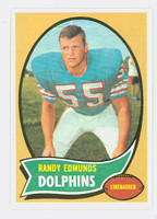 1970 Topps Football 34 Randy Edmunds Miami Dolphins Near-Mint to Mint