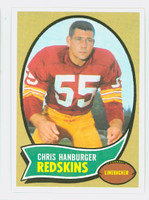 1970 Topps Football 93 Chris Hanburger Washington Redskins Near-Mint to Mint