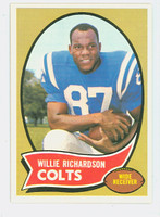 1970 Topps Football 246 Willie Richardson Baltimore Colts Near-Mint to Mint