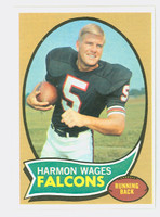 1970 Topps Football 5 Harmon Wages Atlanta Falcons Excellent to Mint