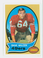 1970 Topps Football 57 Dave Wilcox San Francisco 49ers Excellent to Mint