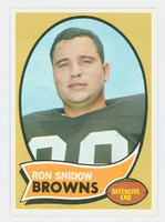 1970 Topps Football 194 Ron Snidow Cleveland Browns Excellent to Mint