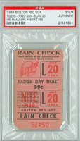 1964 Boston Red Sox Ticket Stub vs Detroit Tigers Carl Yastrzemski HR #55 Dick McAuliffe HR #48  - July 20, 1964 PSA/DNA Authentic Slabbed