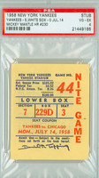 1958 New York Yankees Ticket Stub vs Chicago White Sox Mickey Mantle HR #230 - July 14, 1958 Very Good to Excellent