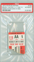 1973 Houston Astros Ticket Stub vs Atlanta Braves Hank Aaron HR #684 Cesar Cedeno HR #46  - May 16, 1973 PSA/DNA Authentic Slabbed