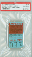 1973 Chicago Cubs Ticket Stub vs Atlanta Braves Hank Aaron HR #702 Joe Niekro Win #54  - August 16, 1973 PSA/DNA Authentic Slabbed