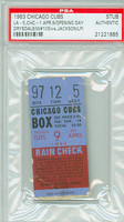 1963 Chicago Cubs Ticket Stub vs Los Angeles Dodgers OPENING DAY Don Drysdale Win #105  - April 9, 1963 PSA/DNA Authentic Slabbed