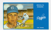 Carl Erskine AUTOGRAPH Brooklyn Dodger Series Postcards Dodgers 