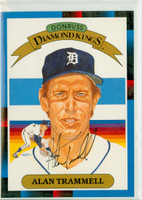 Alan Trammell AUTOGRAPH 1988 Diamond King Supers Tigers 