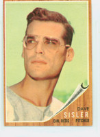 1962 Topps Baseball 171 Dave Sisler Cincinnati Reds Very Good Green