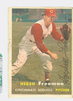 Hershell Freeman AUTOGRAPH d.04 1957 Topps #32 Reds CARD IS F/G