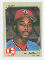 Lonnie Smith AUTOGRAPH 1983 Fleer #21 Cardinals 