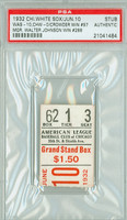 1932 Chicago White Sox Ticket Stub vs Washington Senators Mgr Walter Johnson Win #288 - June 10, 1932 PSA/DNA Authentic Slabbed