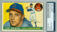 Jim Hegan AUTOGRAPH d.84 1955 Topps #7 Indians PSA/DNA CARD IS F/G; SL CREASE