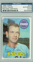 Eddie Fisher AUTOGRAPH 1969 Topps #315 Angels PSA/DNA 