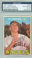 Jay Johnstone AUTOGRAPH 1967 Topps #213 Angels PSA/DNA 