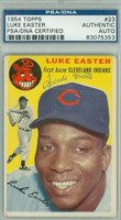 Luke Easter AUTOGRAPH d.79 1954 Topps #23 Indians PSA/DNA CARD IS G/VG; SL BEND, AUTO CLEAN