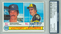 Gaylord Perry AUTOGRAPH 1979 Topps Victory Leaders #5 Padres PSA/DNA 