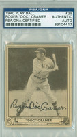 Doc Cramer AUTOGRAPH d.90 1940 Play Ball #29 Red Sox PSA/DNA CARD IS CLEAN VG
