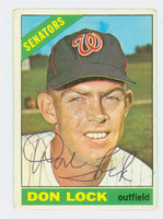 Don Lock AUTOGRAPH d.17 1966 Topps #165 Senators 