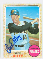 Gene Alley AUTOGRAPH 1968 Topps #53 Pirates 