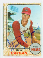 Steve Hargan AUTOGRAPH 1968 Topps #35 Indians 