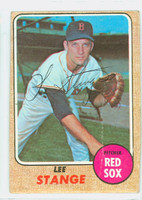Lee Stange AUTOGRAPH 1968 Topps #593 Red Sox   [SKU:StanL1813_T68BBc]