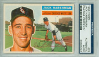 Jack Harshman AUTOGRAPH d.13 1956 Topps #29 White Sox PSA/DNA CARD IS CLEAN EX
