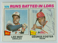 George Foster AUTOGRAPH 1977 Topps #3 Reds RBI Leaders 