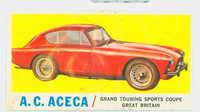 1961 Sports Cars 4 AC Aceca Very Good White Back