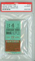 1964 Chicago Cubs Ticket Stub vs Philadelphia Phillies Richie Allen HR #2 & #3 Ernie Banks HR #355  - April 19, 1964 PSA/DNA Authentic Slabbed