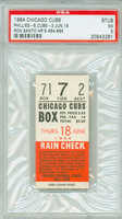 1964 Chicago Cubs Ticket Stub vs Philadelphia Phillies Ron Santo 2 HR: #84-#85 - June 18, 1964 Excellent