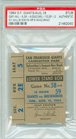 1964 San Francisco Giants Ticket Stub vs Milwaukee Braves Willie Mays 2 HR: #442-#443 - August 16, 1964 PSA/DNA Authentic Slabbed