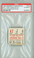 1964 Minnesota Twins Ticket Stub vs Washington Senators Tony Oliva HR #2 Don Mincher HR #34  - April 22, 1964 PSA/DNA Authentic Slabbed