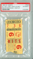 1965 San Francisco Giants Ticket Stub vs Los Angeles Dodgers Willie Mays HR #462 Claude Osteen Win #36  - May 7, 1965 PSA/DNA Authentic Slabbed
