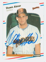 Shawn Abner AUTOGRAPH 1988 Fleer Padres 