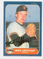 Mike Jeffcoat AUTOGRAPH 1986 Fleer Giants 