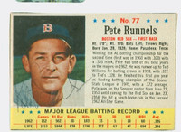 Pete Runnels AUTOGRAPH d.91 1963 Post #77 Red Sox CARD IS EXCELLENT