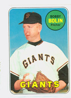 1969 Topps Baseball 505 b Bobby Bolin Yellow Letters  San Francisco Giants Very Good to Excellent