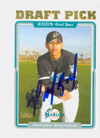 Yorman Bazardo AUTOGRAPH 2005 Topps Draft Pick Marlins 