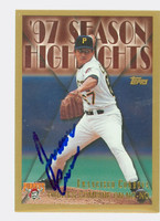 Francisco Cordova AUTOGRAPH 1997 Topps Season Highlights Pirates 