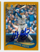 Hector Ortiz AUTOGRAPH 2002 Topps Royals 