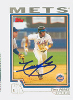 Timo Perez AUTOGRAPH 2004 Topps Mets 