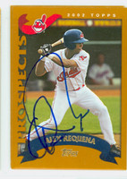 Alex Requena AUTOGRAPH 2002 Topps Indians 